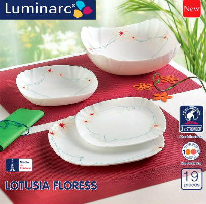 Набор столовый 19пр Luminarc LOTUSIA FLORESS J5909